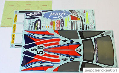 Tamiya 9495387 1/10 Ford Focus RS WRC 02 Sticker (a, b) & Masking Seal Decals