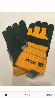3M North Polar Winter Insulated Waterproof Leather Gloves Large