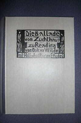 Oscar Wilde: The Ballad of Reading Gaol. Ill. Erich Heckel. Mit Originalgraphik!