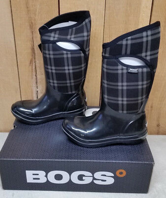 eb3682dad74b Bogs Women s Plimsoll Plaid Tall Insulated Waterproof Winter Boot - Black -  New