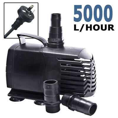 5000LPH Submersible Aqua Aquarium Fountain Pond Marine Water Air Pump Fish Tank