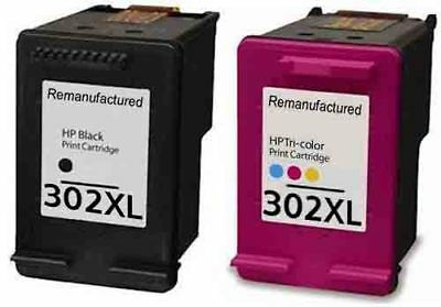 Remanufactured Twin Pack HP 302 XL Black And HP 302XL Colour Ink Cartridges