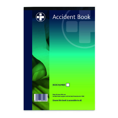 A4 Accident Book, HSE compliant,schools, office, Factory,constructionWorkplaces