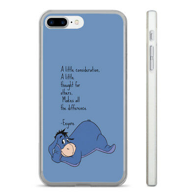 Eeyore Quote Consideration Hard Clear Phone Case Cover Fits Iphone 5 6 7 8 (Ht)