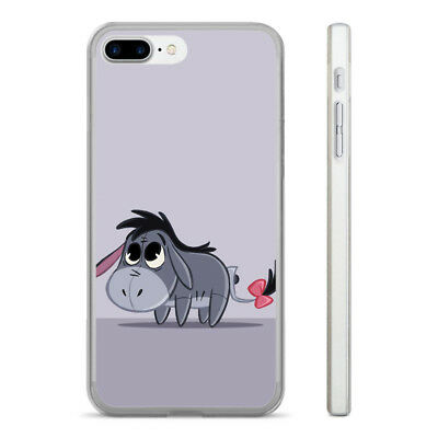 Adorable Eeyore Cartoon Hard Clear Phone Case Cover Fits Iphone 5 6 7 8 (Ht)