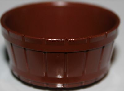 Lego 2x Reddish Brown Container Barrel Half Large NEW