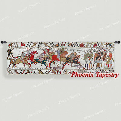 "Bayeux-III Medieval Old World Tapestry Wall Hanging, Cotton 100%, 57""x18"", UK"