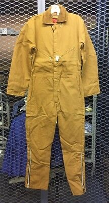 Walls Mens Small Regular Brown Insulated Work Coveralls NWT