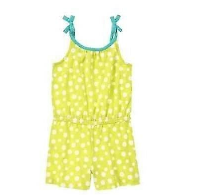 NWT Gymboree Girls Desert Dreams Lime Green Polka Dot Romper Sz 4 5 6 7 8 10 12
