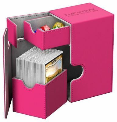 Ultimate Guard - Flip'n'Tray XenoSkin Deck Case 80+ Pink - Gaming Boxen Card Box