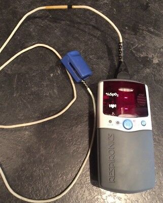 Respironics Nonin Model 2500A Pulse Oximeter And Nonin Sensor