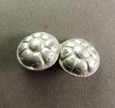 Genuine French Silver Sterling Floral Cape Button - ca.18th Century AD
