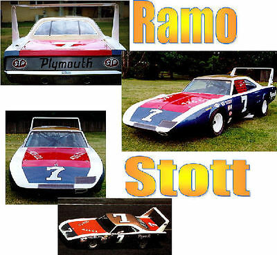 CD_786 #7 Ramo Stott    Plymouth Road  Runner   1:24 Scale Decals