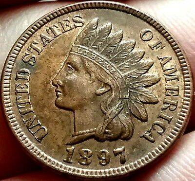 1897 United States Indian head one cent coin frankyd360 #ac503