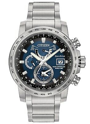 Citizen Men's Eco Drive Radio Controlled Solar Blue Dial Watch AT9070-51L