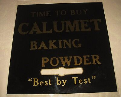 **CALUMET BAKING POWDER ADVERTISING GLASS PANEL** Best by Test
