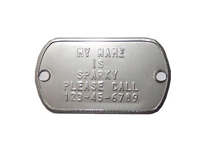 Custom Pet Tag Stainless Steel, Luggage Tag, Matte/Dull Easy Fast Free Shipping