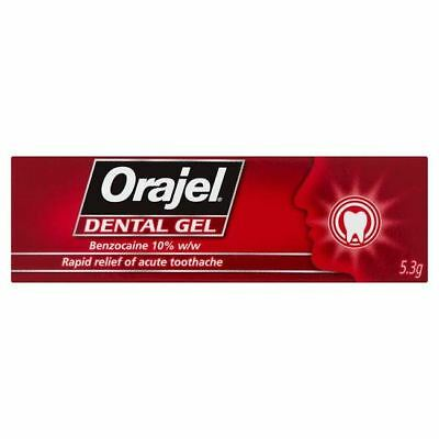Orajel RED Dental Gel for Rapid Relief of Toothache - 5.3g
