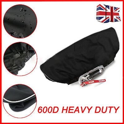 Waterproof Soft Winch Dust Cover 8000-17500 lbs Trailer ATV SUV Black