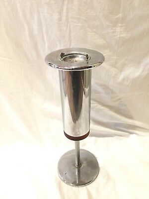 Art Deco Ashtray Cigarette Stand Vintage Floor Cigar Chrome