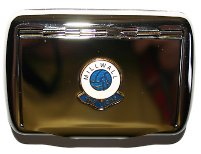 Tobacco Tin Metal Cigarette Paper Holder Inside Millwall The Lions FC Brand New