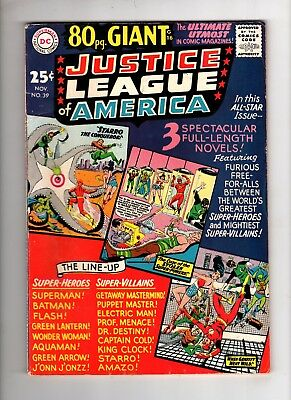 Justice League of America 39 VG/F Range 80 Page Giant Eighty Batman JLA