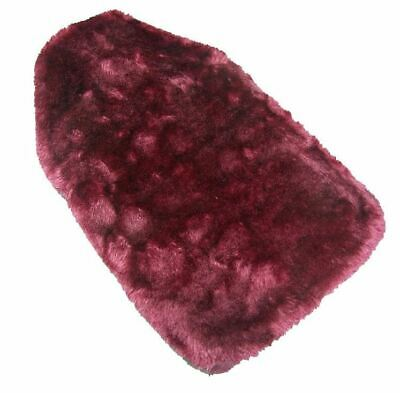 Faux Fur Covered Rubber Ribbed Hot Water Bottle - Dark Pink