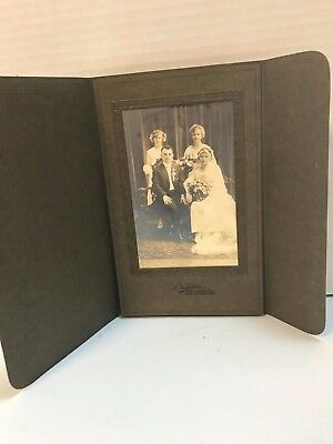 Antique Photo of Wedding Party 1920's? A. Virkshus East Chicago, IN Photo 4x6