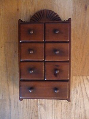 Super Vintage Walnut 7-drawer hanging spice cabinet