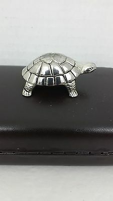 """Godinger Silver Plated Turtle 2"""" Long Great Cond."""