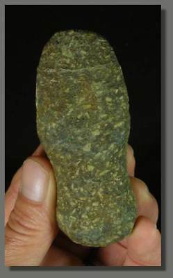RARE GROOVED POLISHED STONE AXE, NEOLITHIC, SAHARA, 5000 years old !