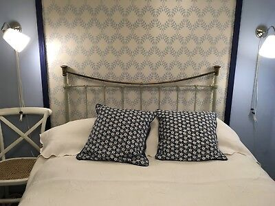 Antique French Metal Double Bed