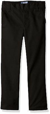 CHEROKEE Boys' Uniform Relaxed-Fit Twill Pull On Pant - Black