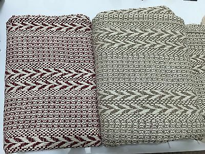 Decoroma Throw Rug Bedspread Blanket  125*150Cm Bed Sofa 100% Cotton Red, Beige
