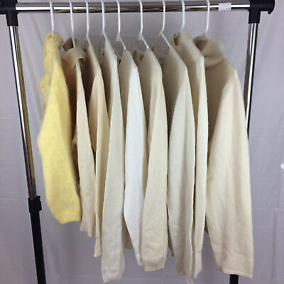 8 VINTAGE Sweater 100% Cashmere 2 Wear OR Crafts Up-Cycling Cutter Lot ANGORA