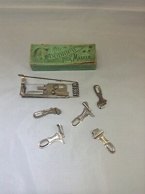Antique H.C. Goodrich 1873 Sewing Machine Tuck Marker 5 Attachments With Box