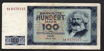 East Germany (Ddr):  100 Marks  (1964)  (Aa 8470137)