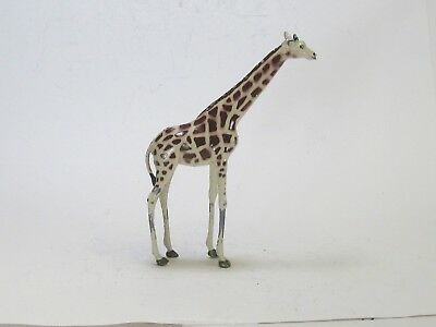 Britains vintage lead toy circus or zoo figures stately giraffe walking exc.