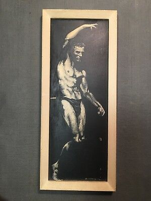 ORIGINAL drawing by William MacLane Male Physique Gay Pin-up Seattle Artist