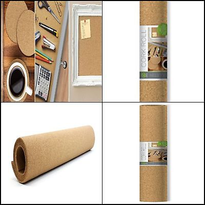 Natural Craft Cork Roll Bulletin Board Surface Drawer Shelf Liners 24x48 Inches