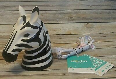 Pillowfort Zebra nightlight kids room nursery decor african wild animal lamp