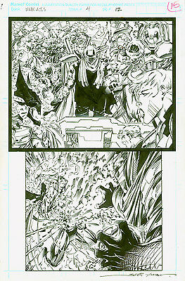 Original Comic Book Art WildCATS #4 Page12  pencils/Jim Lee Inker/Scott Williams
