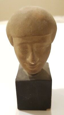 Ancient Egyptian Amarna Style Head - Terracotta - Acquired 1967