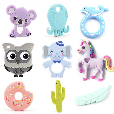 Cactus Elephant Octopus Silicone Teether Baby Chewable Teething Toy Shower Gift
