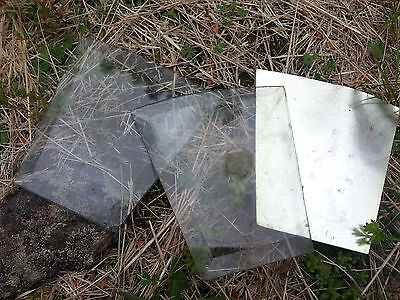 """TWO~ANTIQUE BEVELED GLASS 4"""" x 4""""  PANELS SHIP FREE"""