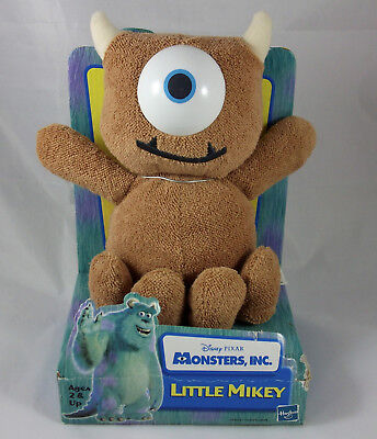 DISNEY PIXAR HASBRO Monsters Inc Little Mikey 2001 Plush Stuffed Animal Toy