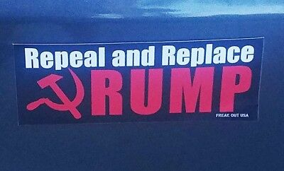 10x ANTI TRUMP BUMPER STICKER Repeal + Replace w/ Sickle FREE SHIP Resist Russia