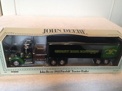 1/64 actual size 1/43 John Deere 1948 Peterbilt tractor trailer semi Dealer sale