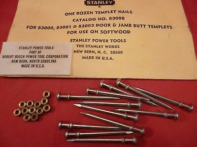 Stanley/bosch 83008 Nails & Bushings For Door & Jamb Templets 83000,83001,83003
