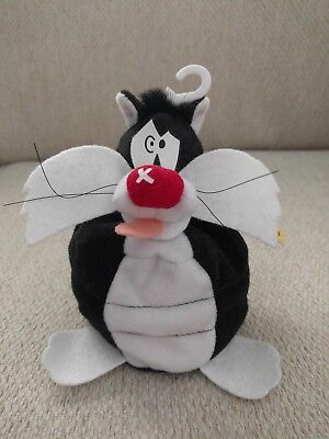 Classic Collection Sylvester Slam Stuffed Bean Animal Tag Warner Brothers